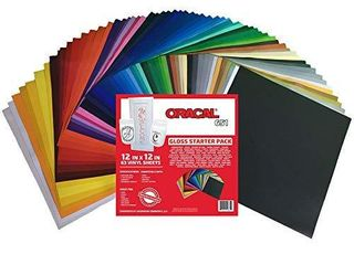 Oracal 651 Popular Pack   Adhesive Craft Vinyl for Cricut  Silhouette  Cameo  Craft Cutters  Printers  and Decals  63  Sheets