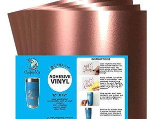 Craftables Rose Gold Metallic Craft Vinyl for Cricut and Silhouette  Cameo   Chrome Polish Finish Vinyl    5  12  x 12  sheets