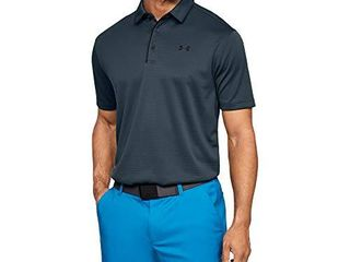 Under Armour Men s Tech Golf Polo   Wire  073 Grey  large