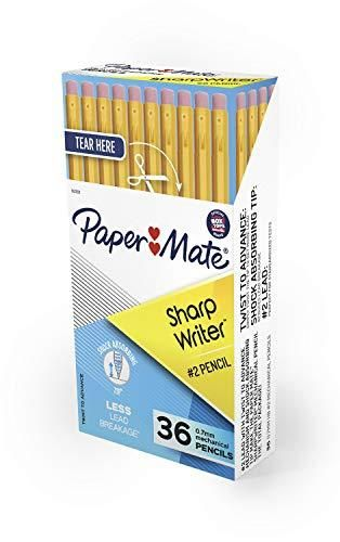 Paper Mate SharpWriter Mechanical Pencils   0 7 mm  2 Pencil   Pencils for School Supplies  Yellow  36 Count