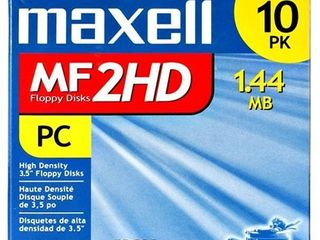 Maxell 3 5 HD 1 44MB Pre Formatted MF2HD 10 Pack