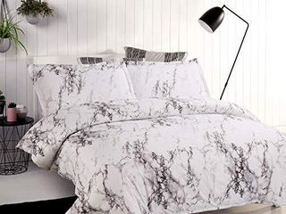 Bedsure Duvet Cover Set with Zipper Closure Printed Marble Design Twin  68x90 inches 2 Pieces  1 Duvet Cover   1 Pillow Sham Ultra Soft Hypoallergenic Microfiber