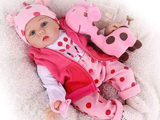 CHAREX Reborn Baby Dolls  22 inches Newborn lifelike Soft Silicone Baby Dolls  Weighted Toddler Girl