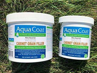 Aqua Coat  Best White Cabinet Wood Grain Filler  White Gel  Water Based  low Odor  Fast Drying  Non Toxic  Environmentally Safe  Quart