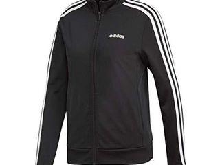 adidas Women s Essentials 3 Stripe Track Jacket  Black White  XX Small