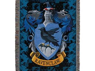 Harry Potter Woven Tapestry Throw Blanket  48 x 60 Inches  Ravenclaw Crest