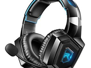RUNMUS Gaming Headset for PS4  Xbox One  PC Headset w Surround Sound  Noise Canceling Over Ear Headphones with Mic   lED light  Compatible with PS5  PS4  Xbox One  Switch  PC  PS2  Mac  laptop