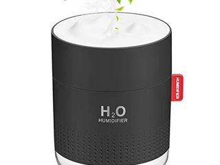 Portable Mini Humidifier  500ml Small Cool Mist Humidifier  USB Personal Desktop Humidifier for Baby Bedroom Travel Office Home  Auto Shut Off  2 Mist Modes  Super Quiet  Black