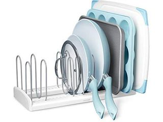 YouCopia Pan and lid Rack StoreMore Adjustable  large  White