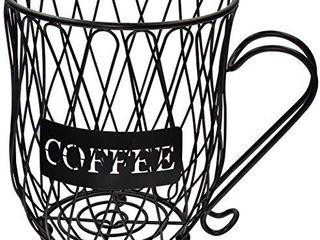 Coffee Pod Holder and Organizer Mug Cup Keeper Coffee   Espresso Pod Holder  Coffee Mug Storage Basket