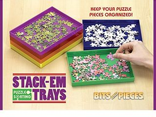 Bits and Pieces   Puzzle Stack Em Sorting Trays   Puzzle Piece Sorter   Puzzle Gift