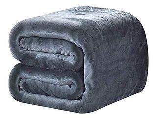 DREAMFlYlIFE luxury Fleece Blanket Winter Thick Blanket Super Soft Blanket Bed Warm Blanket Couch Blanket Smoke Grey King Size  90x108 in