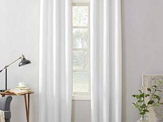 No  918 Montego Casual Textured Grommet Curtain Panel  48  x 95  White