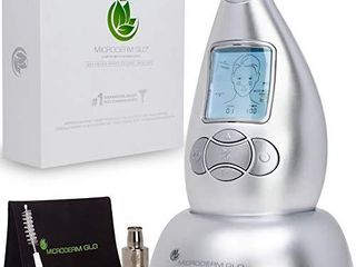 Microderm GlO Diamond Microdermabrasion Machine and Suction Tool   Clinical Micro Dermabrasion Kit for Tone Firm Skin  Advanced Home Facial Treatment System   Exfoliator For Bright Clear Skin
