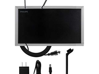 Philips Amplified Crystal Indoor TV Antenna  long Range  Digital  HDTV Antenna  Smart TV Compatible  4K 1080P VHF UHF  6 ft  Coaxial Cable  Amplifier  Signal Booster  SDV3237N 27