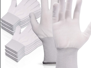 PACKAGE OF WHITE WORK GlOVES