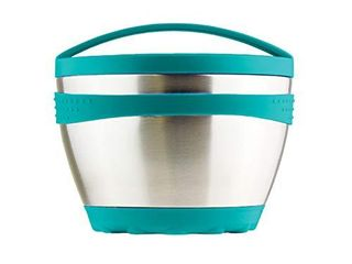 Kid Basix Safe Bowl   Reusable Stainless Steel lunch Container for Adults   Thermos for Hot   Cold Food Storage   Dishwasher Safe   16oz   Teal