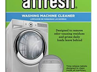 Affresh W10501250 Washing Machine Cleaner  6 Tablets  Cleans Front load and Top load Washers  Including HE