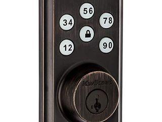 Kwikset 98880 005 SmartCode 888 Smart lock Touchpad Electronic Deadbolt Door lock with Z Wave Plus Featuring SmartKey Security in Venetian Bronze