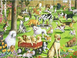 Ravensburger at The Dog Park large Format 500 Piece Jigsaw Puzzle for Adults Every Piece is Unique  Softclick Technology Means Pieces Fit Together Perfectly