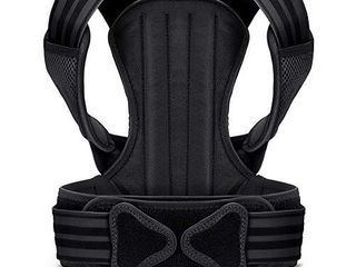 VOKKA Posture Corrector for Men and Women  Spine and Back Support  Providing Pain Relief for Neck  Back  Shoulders  Adjustable and Breathable Back Brace Improves Posture and Provides Back Support M