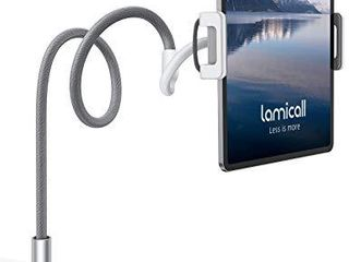 Gooseneck Tablet Holder  lamicall Tablet Stand  Flexible Arm Clip Tablet Mount Compatible with iPad Mini Pro Air  Switch  Galaxy Tabs  More 4 7 10 5  Devices   Gray