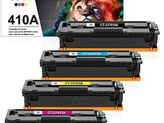 Cool Toner Compatible Toner Cartridge Replacement for HP 410A CF410A HP laserjet Pro MFP M477fnw M452dn M477fdw M477fdn M452nw M452dw M452 M477 Toner Printer Ink  Black Cyan Yellow Magenta  4 Pack
