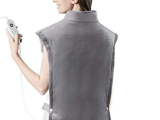 iTeknic Heating Pad for Back Pain Relief  XXX large 35 x27  Electric Heating Pad for Neck and Shoulders Heat Wrap for Cramps with Auto Off  6 Temperature Settings  Moist Heat Therapy  Fast Heating