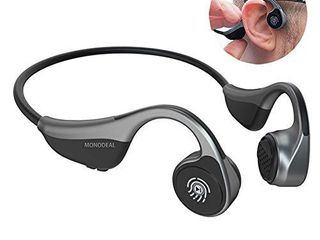 Open Ear Headphones  MONODEAl Bone Conduction Headphones Wireless Bluetooth Headset with Microphone for Phone Calls  Running  Sports  Grey