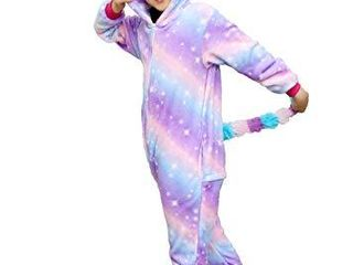 Colorful Unicorn Onesie Pajamas for Kids   Animal Costume for Halloween Cosplay