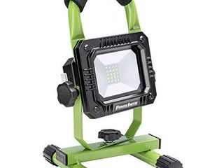 PowerSmith PWlR108S 800 lumen Weatherproof Rechargeable lithium Ion Cordless lED Work Metal Base Stand and Emergency SOS  low and High light Modes