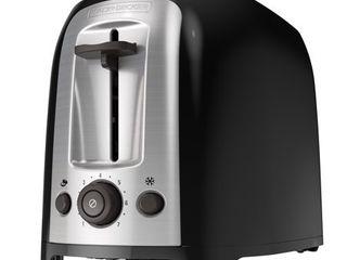 BlACK DECKER 2 Slice Extra Wide Slot Toaster  Black Silver  TR1278B