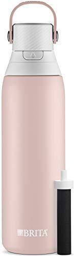 Brita Stainless Steel Water Filter Bottle  20 oz  Rose