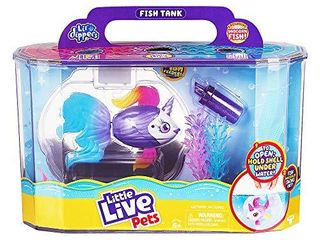 little live Pets lil  Dippers Playset   Magical Water Activated Unboxing and Interactive Feeding Experience   Exclusive Unicorn Fish   for Ages 5