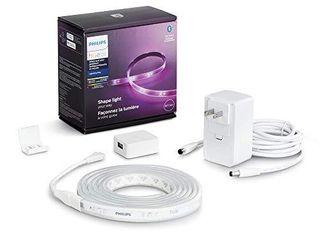 Philips Hue Bluetooth Smart lightstrip Plus 2m 6ft Base Kit with Plug   Voice Compatible with Amazon Alexa  Apple Homekit and Google Home
