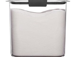 Rubbermaid 1994227 Container  BPA Free Plastic  Clear Brilliance Pantry Airtight Food Storage  Open Stock  Sugar  12 Cup