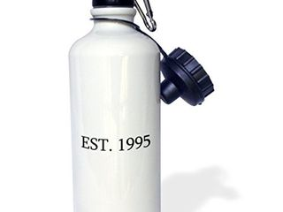 3dRose  Est  1995 Established in 1995 Personal birth year  Sports Water Bottle  21 oz  White