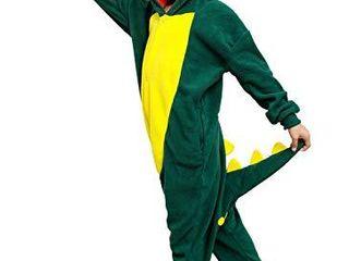 Kids Unisex Animal Cuddly Green Crocodile Pajamas Cosplay Costume