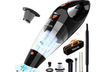 Vaclife Handheld Vacuum  Cordless with High Power   Quick Charge Tech  Red  Vl188