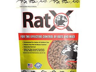 EcoClear Products 620100 6D RatX All Natural Non Toxic Humane Rat and Mouse Killer Pellets  8 oz  Bag