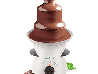 NutriChef 3 Tier Chocolate Fondue Fountain   Electric Stainless Choco Melts Dipping Warmer Machine   Melting  Warming  Keep Warm   for Melted Chocolate  Candy  Butter  Cheese  Caramel  White  One Size