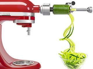 Bestand Spiralizer Attachment  5 Blades  Compatible with KitchenAid Stand Mixer  Comes with Peel  Core and Slice  Vegetable Slicer  Not KitchenAid Brand Spiralizer