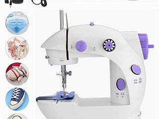 htovila Mini Sewing Machine  Portable Handheld Sewing Machines Double Thread Portable Electric Household Multifunctional Clothes Fabrics Electric Sewing Machine  for Household Beginner DIY Project