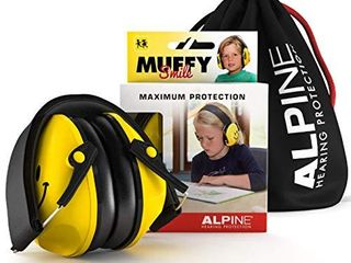 Alpine Muffy Ear Defender Kids   Hearing Protection for Children and Toddlers   Earmuffs to prevent hearing damage and reduce noise   Robust and easy to store   Comfortable fit   Smile Yellow