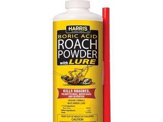 HARRIS Boric Acid Roach and Silverfish Killer Powder w lure  16oz