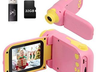Kids Camera  Video Camera Camcorder for Kids Gifts  1080P HD DV Digital Video Camera with 2 4inch Screen  12MP Kids Camera for Children Boys   Girls 3 10 Year Old with 32G SD Card  SD Card Reader