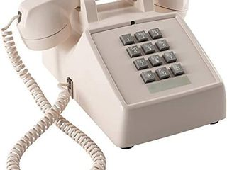 Home Intuition Amplified Single line Corded Desk Telephone with Extra loud Ringer  Ash