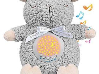 BEREST Baby Sleep Soother Sleepy Sheep  Mom s Heartbeat lullabies   Shusher Baby Sound Machine  Nursery Decor Night light Projector  Toddler Crib Sleeping Aid  Baby Shower Gifts Portable Sheep
