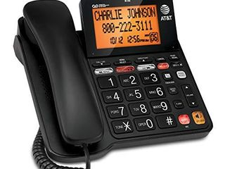 AT T CD4930 Corded Phone with Digital Answering System and Caller ID  Extra large Tilt Display   Buttons  Black