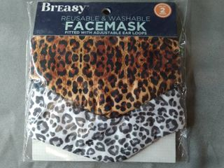 BREASY REUSABlE FACE MASKS PACK OF 2